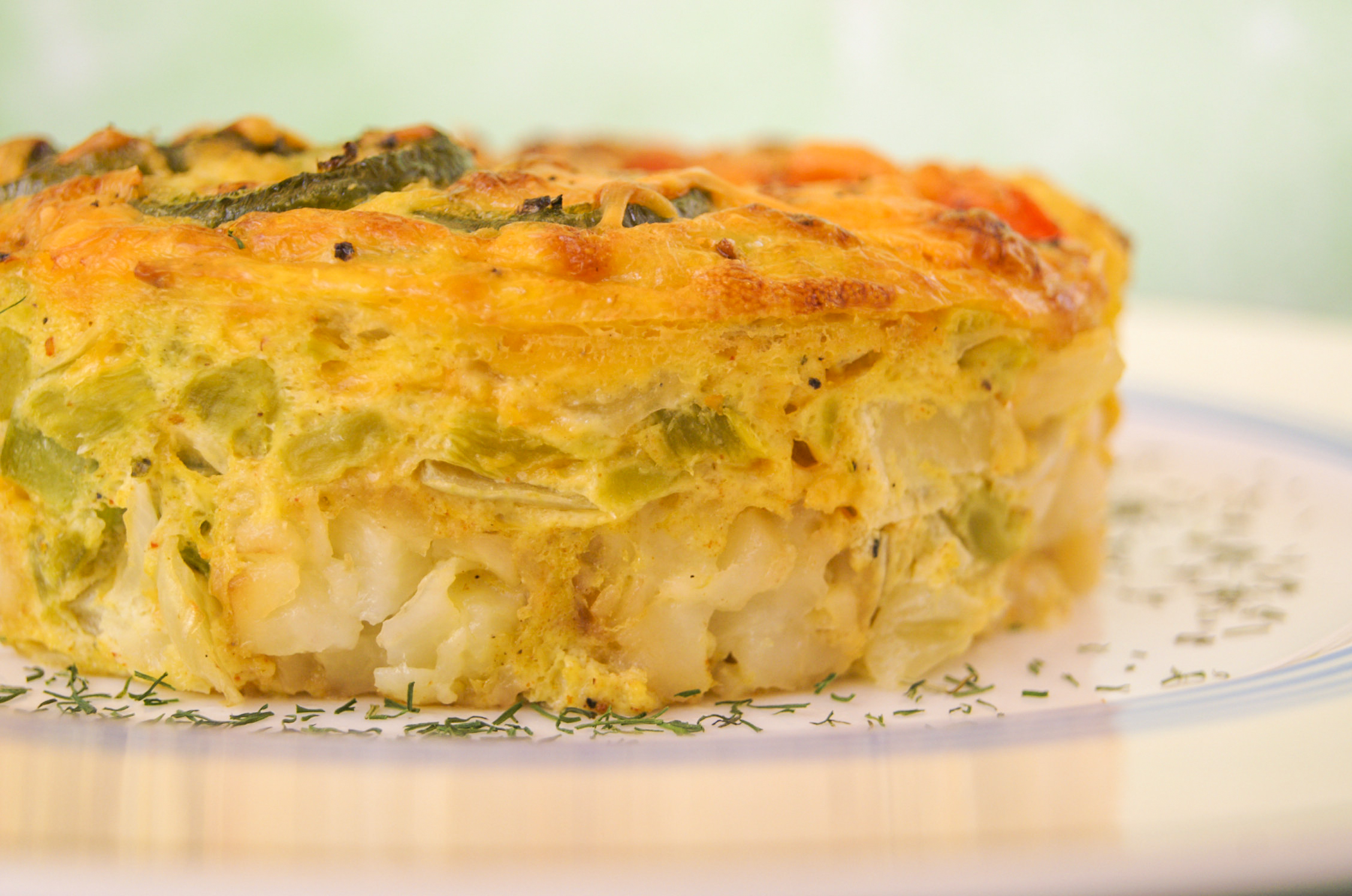 Green Chile and Jalapeno Breakfast Bake | Going Cavewoman