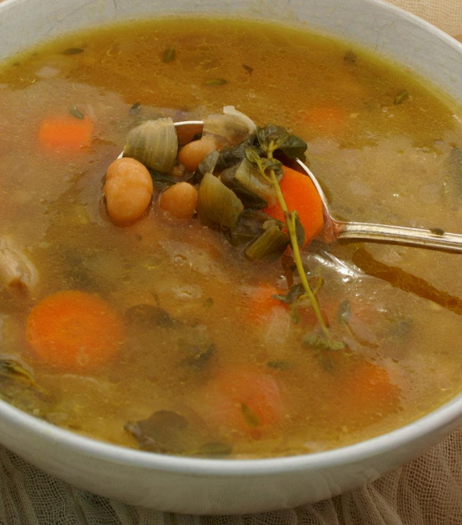 Skinny Shallot Soup