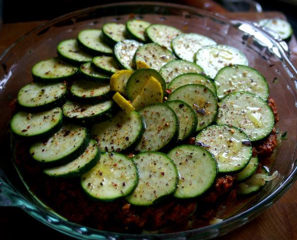 Vegan Chorizo Zucchini Bake with Quinoa
