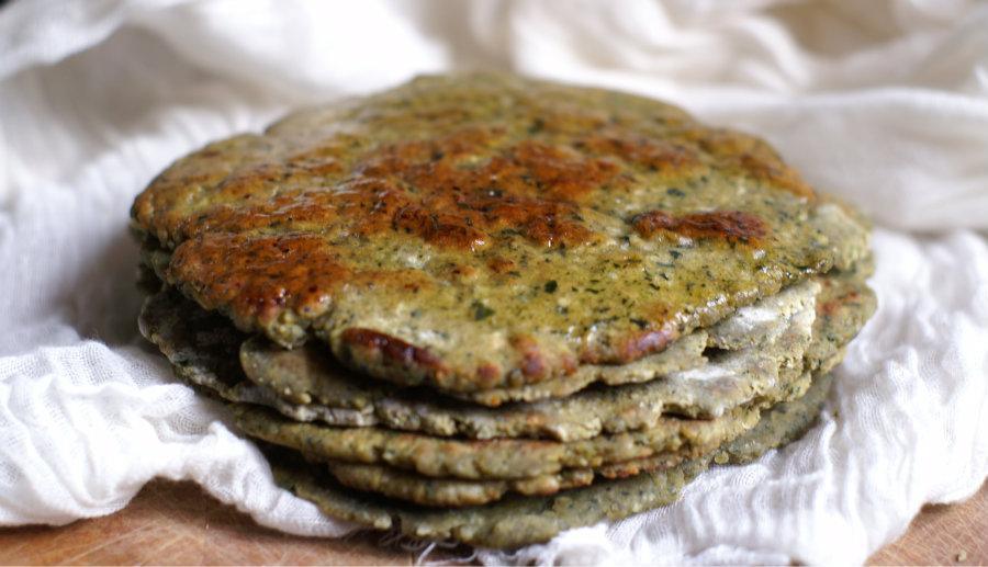 Gluten Free Spinach Chapatis