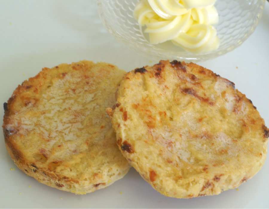 Gluten Free Cheddar English Muffins | Going Cavewoman