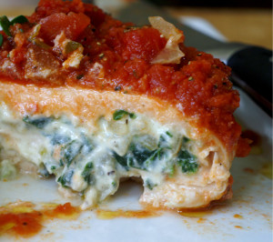Spinach and Ricotta Stuffed Chicken with Basil Marinara | Going ...
