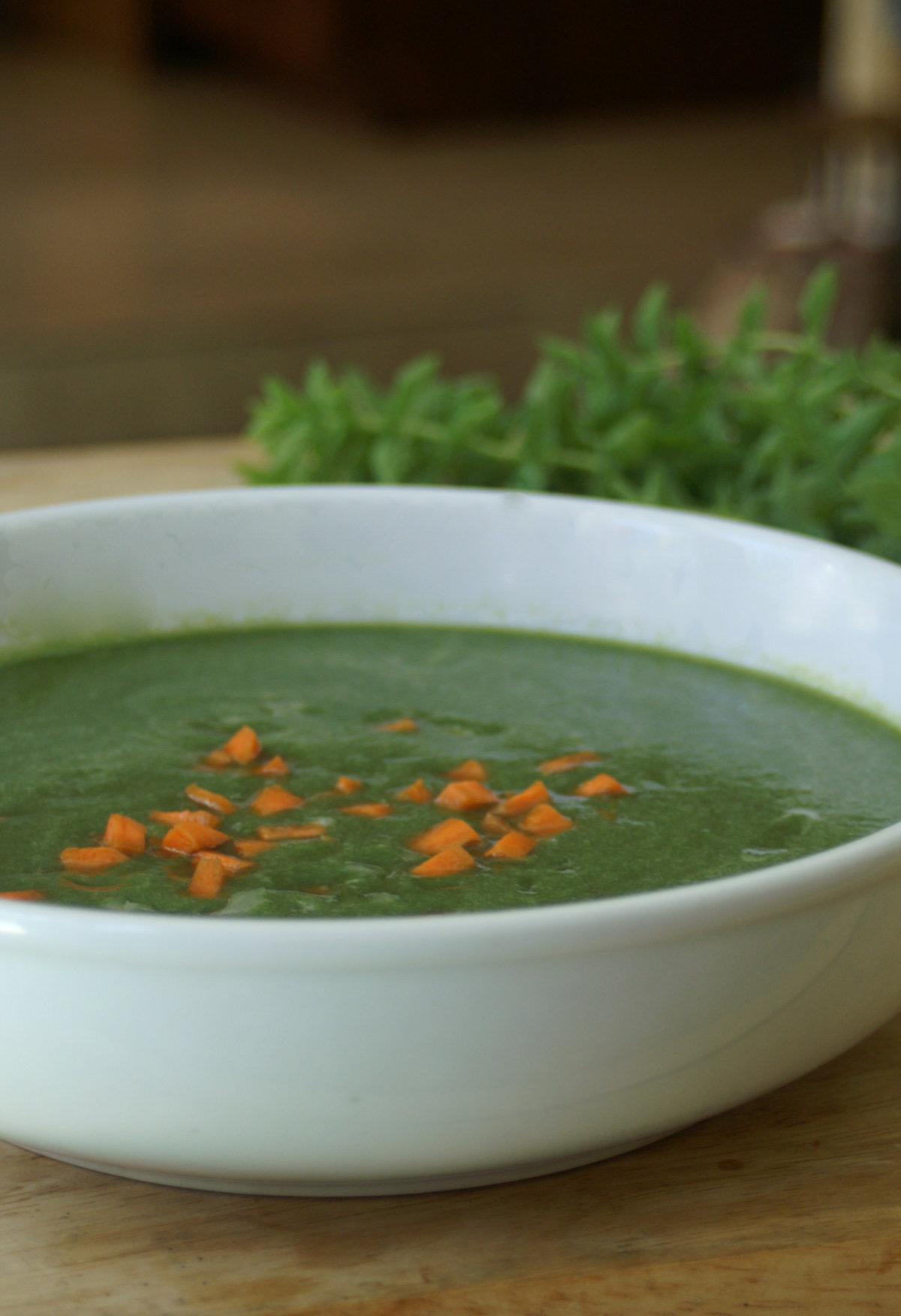 clenasing Green Raw Soup