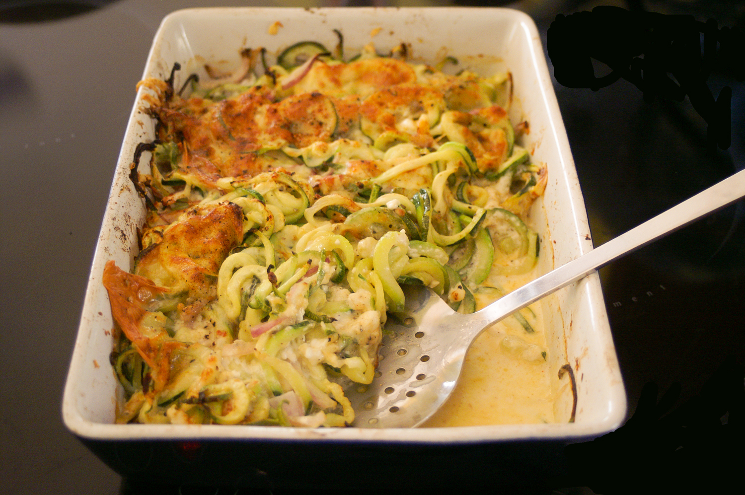 low calorie zucchini and feta bake