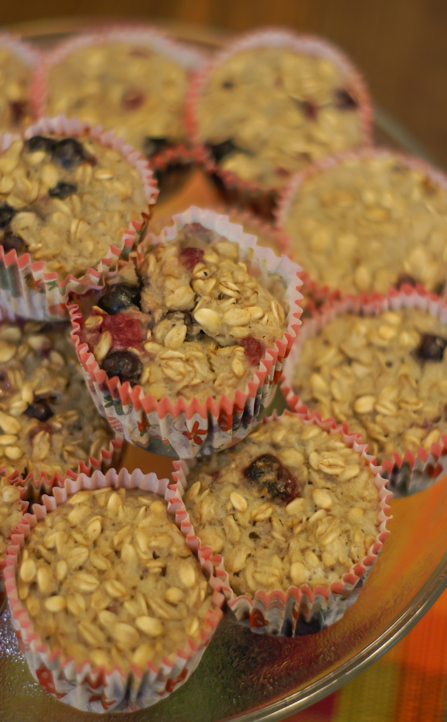 Paleo Sugar Free Berry Oatmeal Breakfast Muffins