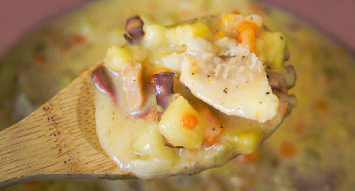 Healthy Clam and Wild Cod Chowder