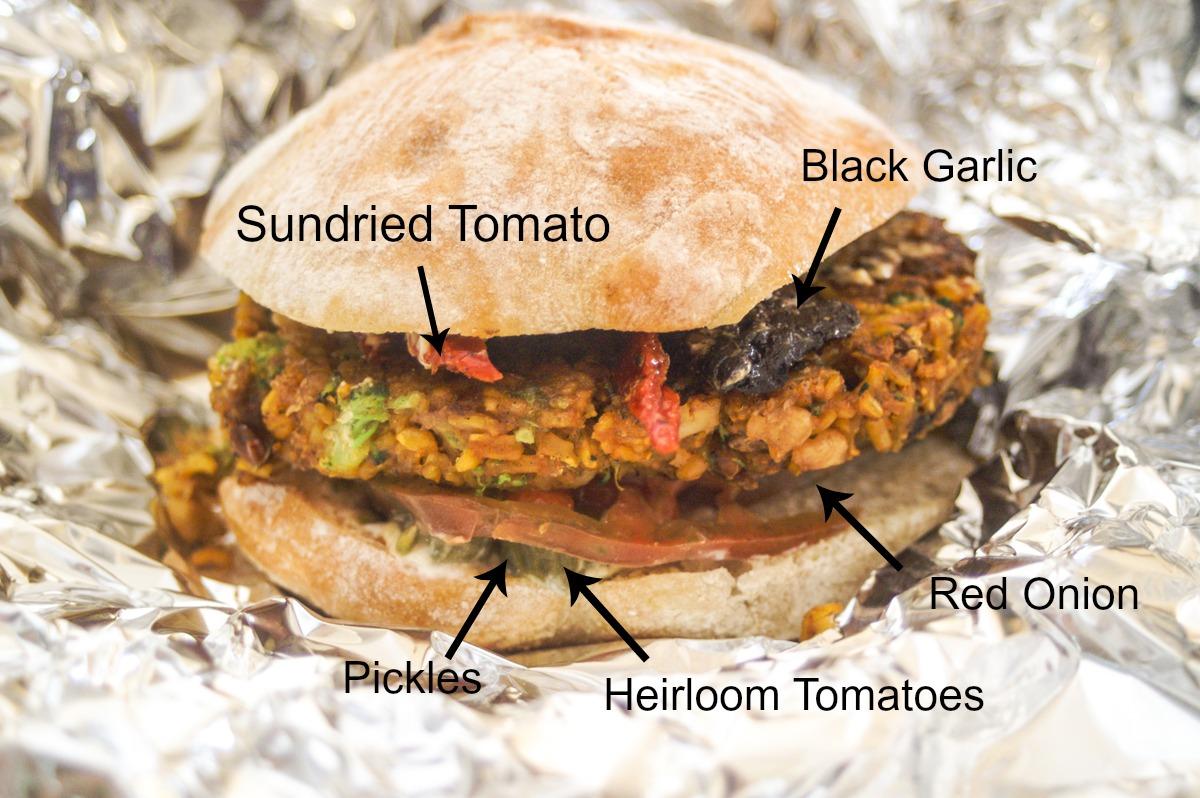Vegan Broccoli Burger