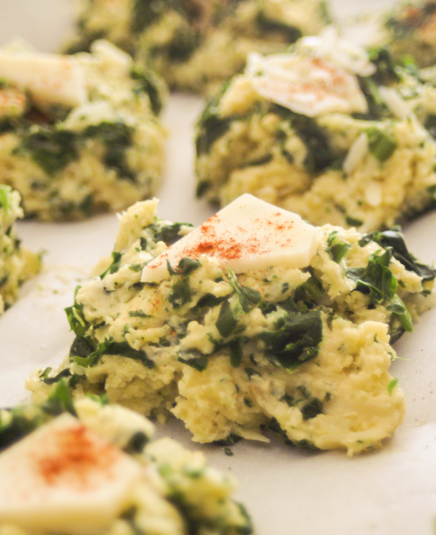 Gluten Free Parmesan and Spinach Biscuits
