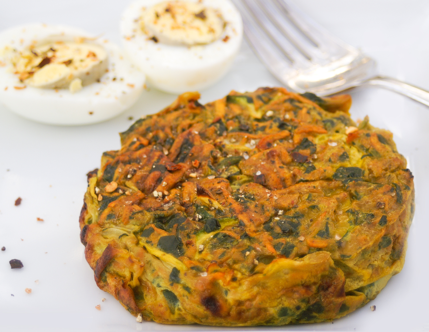 Paleo Spinach and Sweet Potato Breakfast Breads - Going Cavewoman