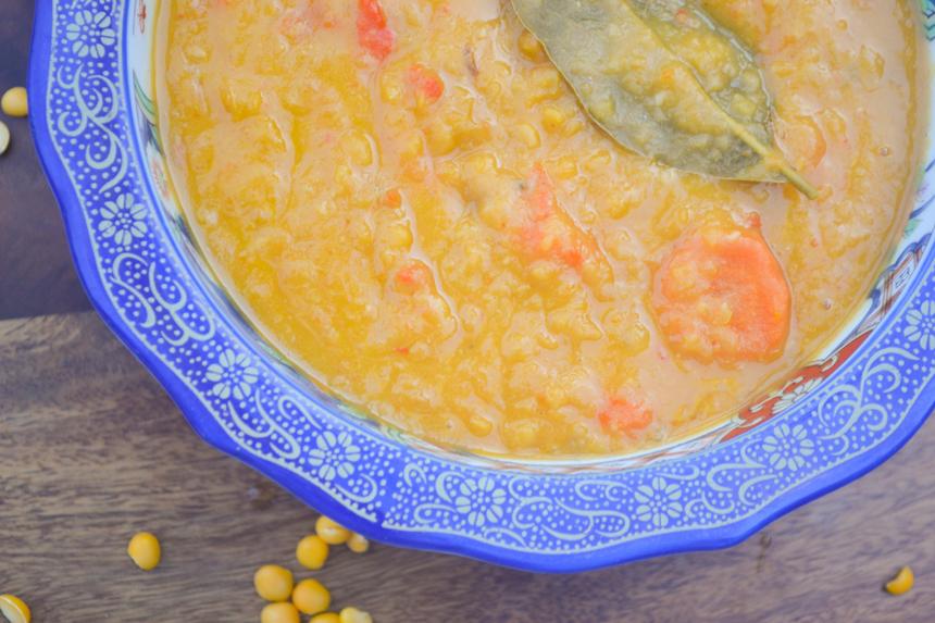 Red Pepper Split Pea Soup