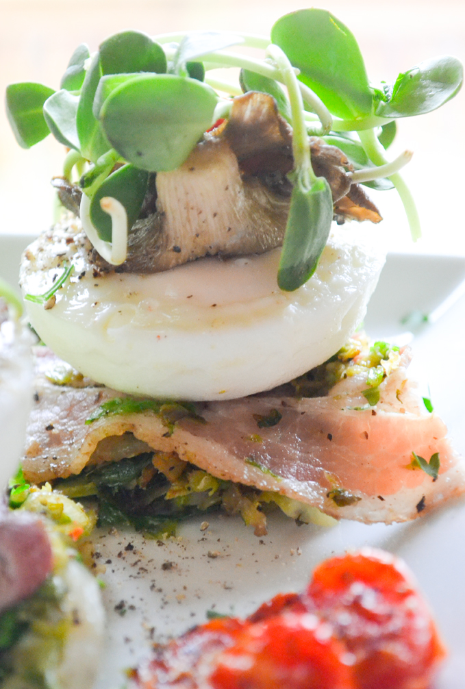 Paleo Poached Egg with Trumpet Mushrooms